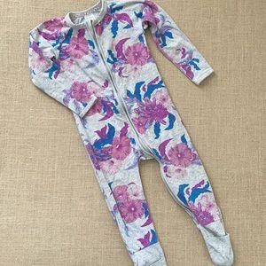 EUC dual zipper Bonds Wondersuit tropical floral